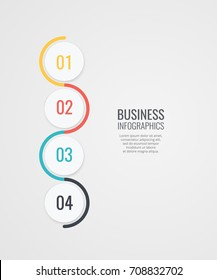 infographics design with number options template for your data vector illustration