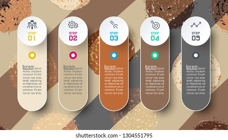 Infographics design on color circle abstract background.