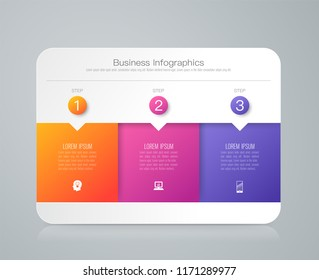 Infographics design vector and marketing icons can be used for workflow layout, diagram, annual report, web design. Business concept with 3 options, steps or processes.