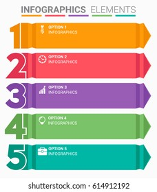 INFOGRAPHICS element abstract design the number top five list template
