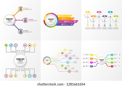 Infographics Element Vector Design Template Business. Data Visualization Timeline with circles, steps, number options most useful can be used for workflow layout, presentation, diagram, annual reports