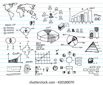 infographics elements sketching vector illustration