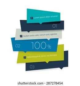 Infographics Elements. Square tab, flowchart, box diagram.