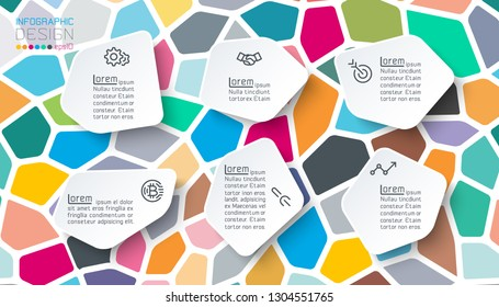 Infographics label on mosaic style.