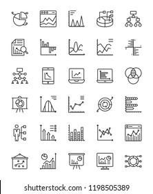 Infographics Line Vector Icons