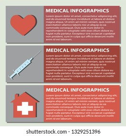Infographics of medical set
