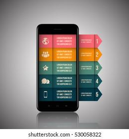 Infographics mobile phone data