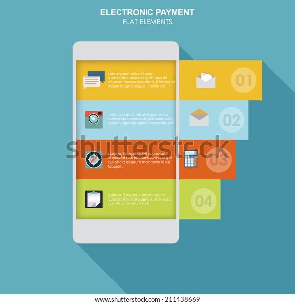 Infographics Mobile Phone Data App Ui Stock Vector (Royalty