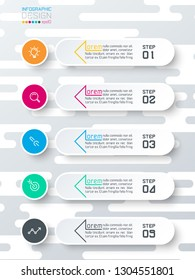Infographics on abstract soft gray wave seamless background.