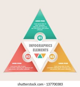 Infographics options banner. Puzzle style. Can be used for diagram, layout, options, steps, web design, infographics...