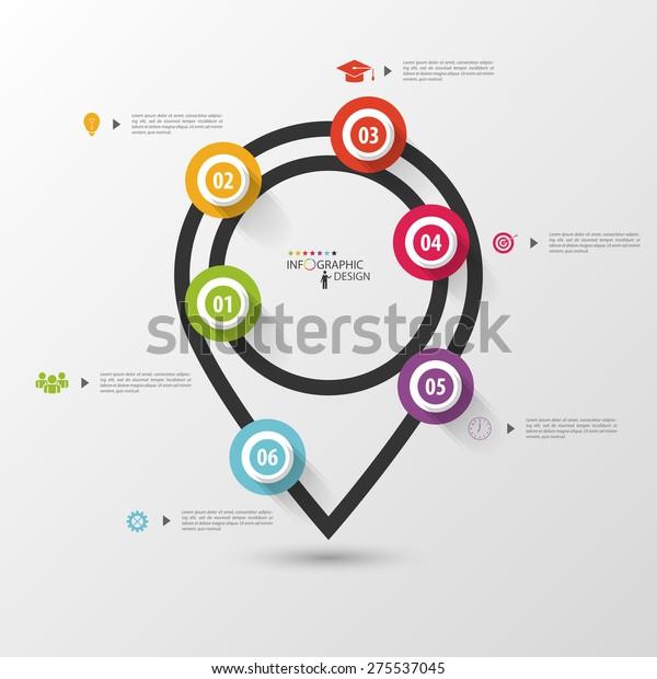 Infographics Pointer Vector Design Template Stock Vector