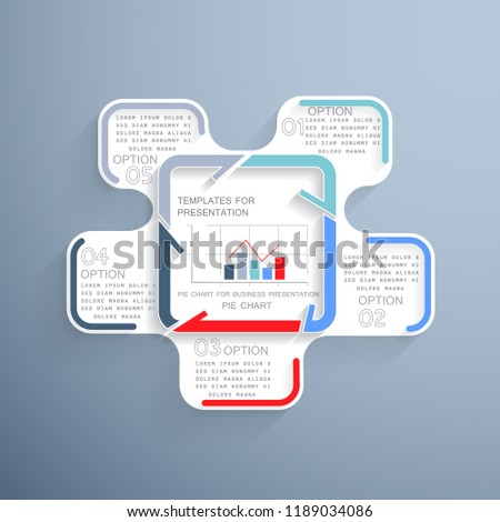 infographics presentation 5 steps processes stock vector royalty