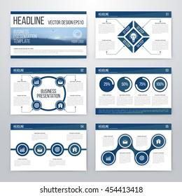 Infographics presentation template flat design set for brochure or flyer