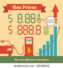 Gas Price Images, Stock Photos & Vectors | Shutterstock