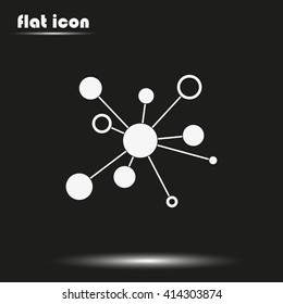 Infographics step by step with radial structure. Flat vector icon.