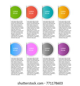 Infographics Template for brochure, business, web design. Folder infographics design vector and marketing icons can be used for workflow layout, diagram, annual report, web design. Business concept