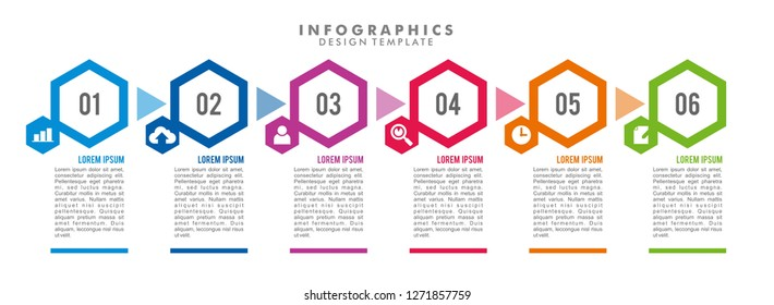 Infographics Template Design for Business. Timeline Infographic. Vector Image. Eps 10.
