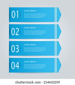 Infographics template design for presentation, infochart, web banner, business, brochure, button. Editable vector illustration. Blue color.