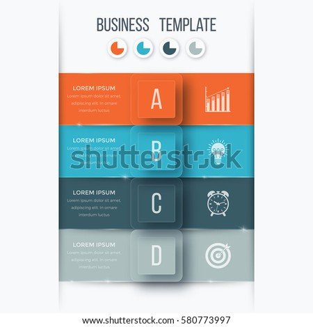infographics template four options square can stock vector royalty