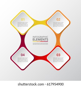 Infographics template. Metaball for diagram, graph, presentation and chart. Business concept with 4 options, parts, steps or processes.