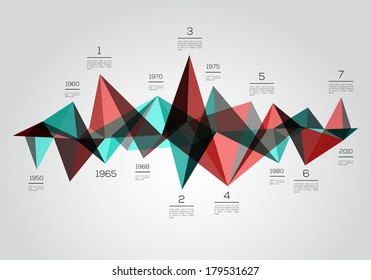 Infographics time line. Abstract Vector design.