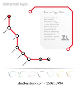 Infographics or website template, vector - All active screens and buttons included in a hidden layer