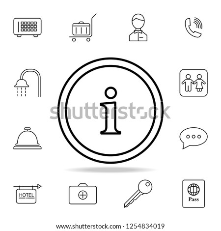 Information Button Icon Element Simple Icon Stock Vector Royalty