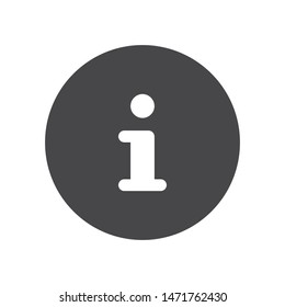 Information button vector icon, simple sign for web site and mobile app.