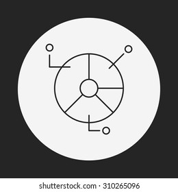 Information chart line icon