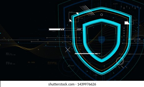 Information data and network protection, future tech technology business security system
