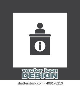 Information Desk vector icon
