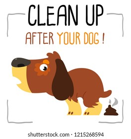 information dog icon. Clean up after your dog