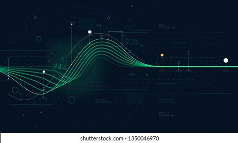 Information graph data showing flow of financial resources, business Intelligence dashboard, creative concept for presentation for financial presentation