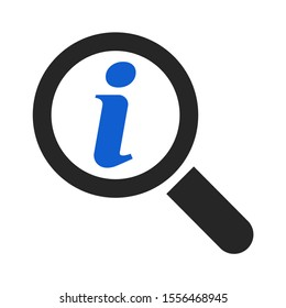 Information help icon,  info bubble desk. Vector sing isolated on white background