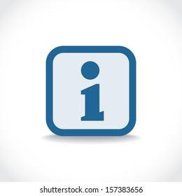 Information icon, symbol with drop shadow, vector pictogram