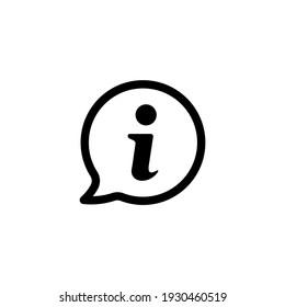 Information icon vector. Faq and support icon symbol illustration