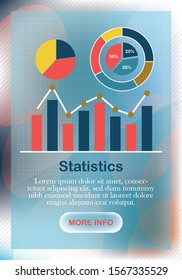 Information processing and analysis. Flat design modern vector illustration