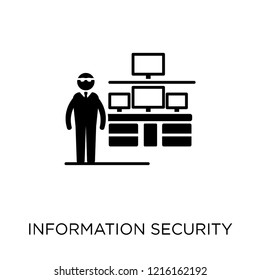 Information Security Analyst icon. Information Security Analyst symbol design from Professions collection. Simple element vector illustration on white background.