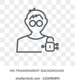 Information Security Analyst icon. Trendy flat vector Information Security Analyst icon on transparent background from Professions collection. High quality filled Information Security Analyst symbol