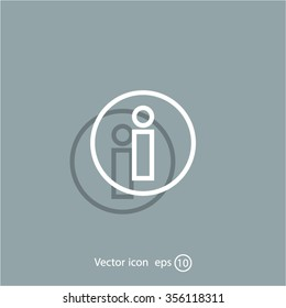Information sign icon, vector illustration. Flat design style