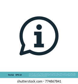 Information Sign Icon Vector Logo Template Illustration Design. Vector EPS 10.
