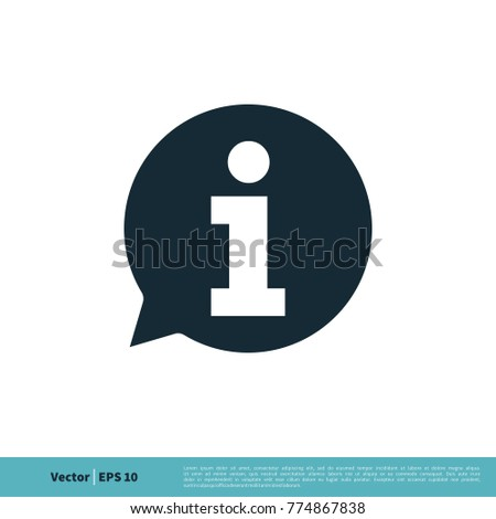 information sign icon vector logo template のベクター画像素材