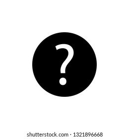 Information support, question mark  icon. Signs and symbols can be used for web, logo, mobile app, UI, UX on white background