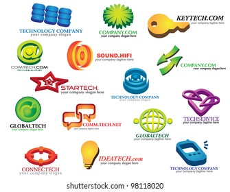 Information technology business icons