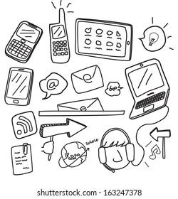 information technology doodle