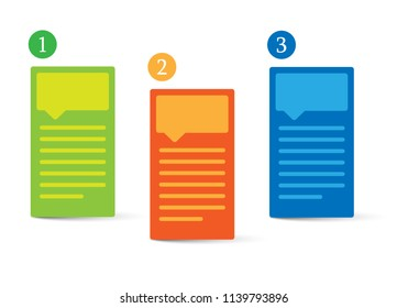 Information three color vector icons with shadow