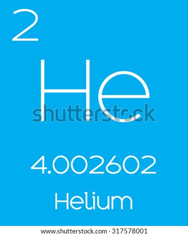 informative illustration periodic element helium stock vector