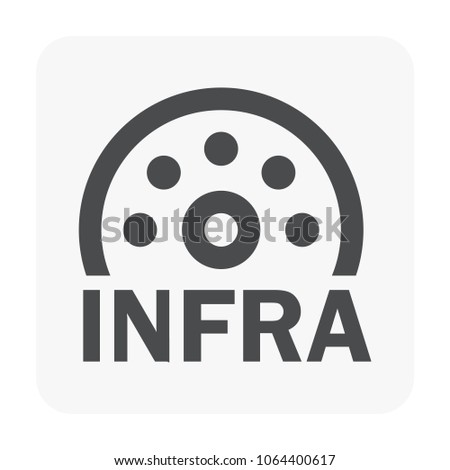 Infrared Icon On White Stock Vector Royalty Free 1064400617