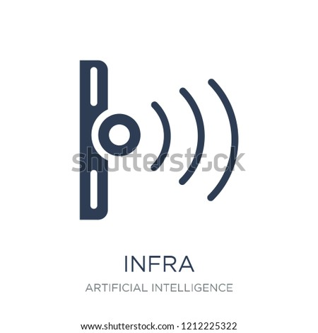 Infrared Icon Trendy Flat Vector Infrared Stock Vector Royalty Free