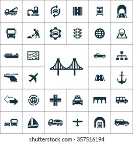 infrastructure Icons Vector set
